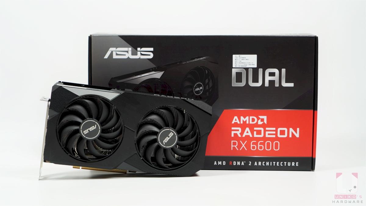 ASUS Dual Radeon RX 6600 包裝相當簡單