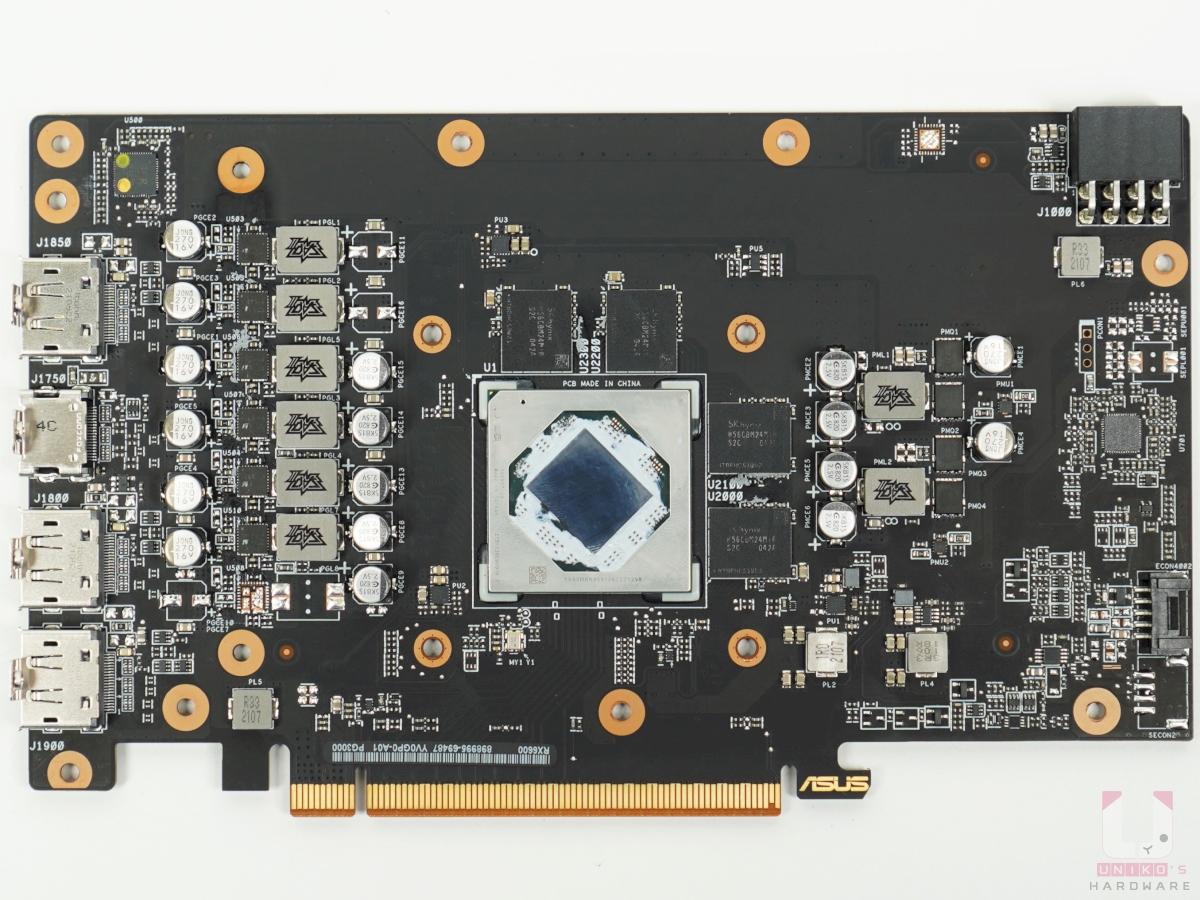 Asus Dual Radeon RX6600 PCB 設計