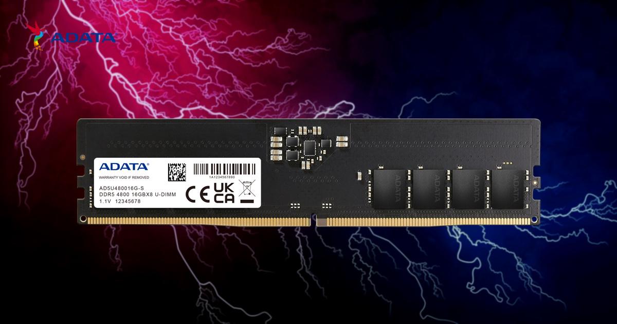 ADATA 威剛發表 DDR5 全新世代高速記憶體模組