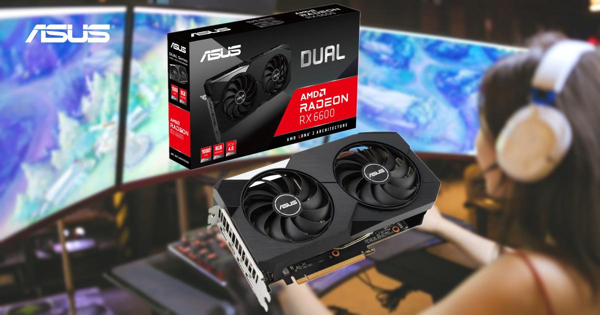 1080p 主流顯卡王者!ASUS Dual Radeon RX 6600 矚目登場