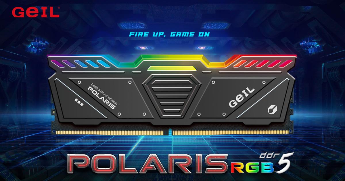 絢麗光效與帥氣裝甲~ GeIL 推出 POLARIS RGB DDR5 北極星記憶體