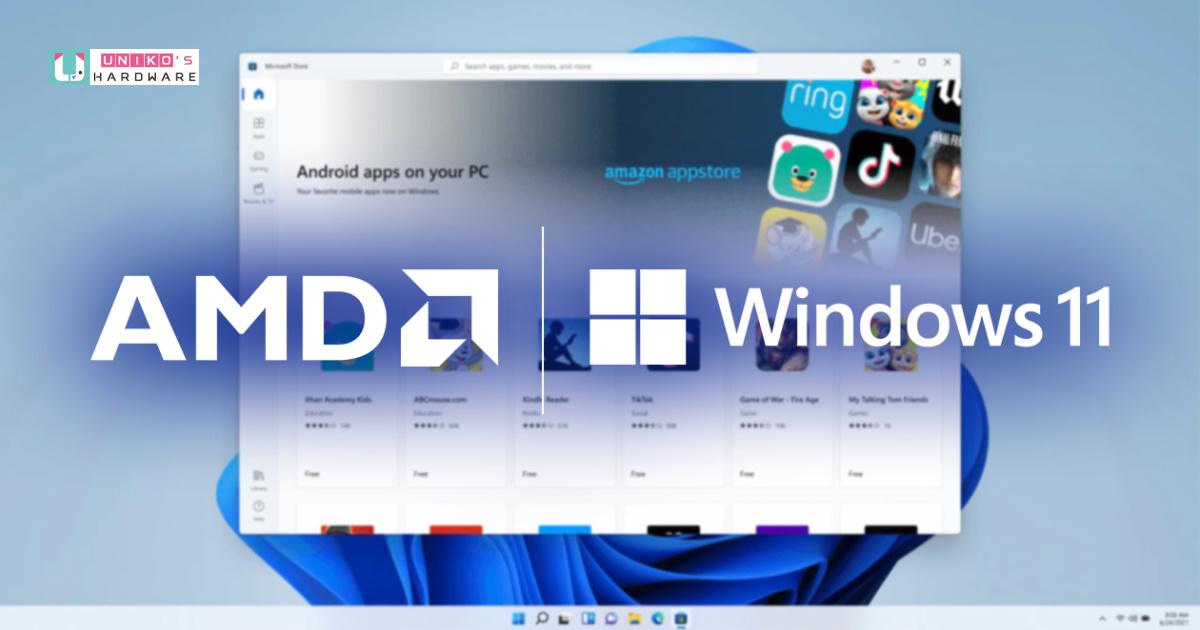 AMD 與微軟為 Ryzen 處理器及 Radeon 顯示卡的 Windows 11 使用者帶來強大可靠的運算效能